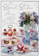 Sister 60th Birthday Card
